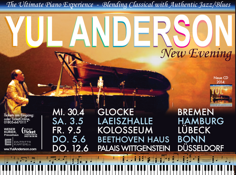 Yul Anderson flyer 2014 German Tour